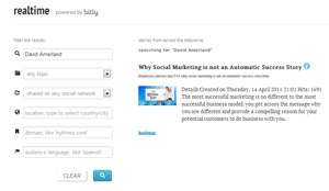 Bitly Realtime Search