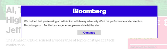 Bloomberg hates you blocking their ads