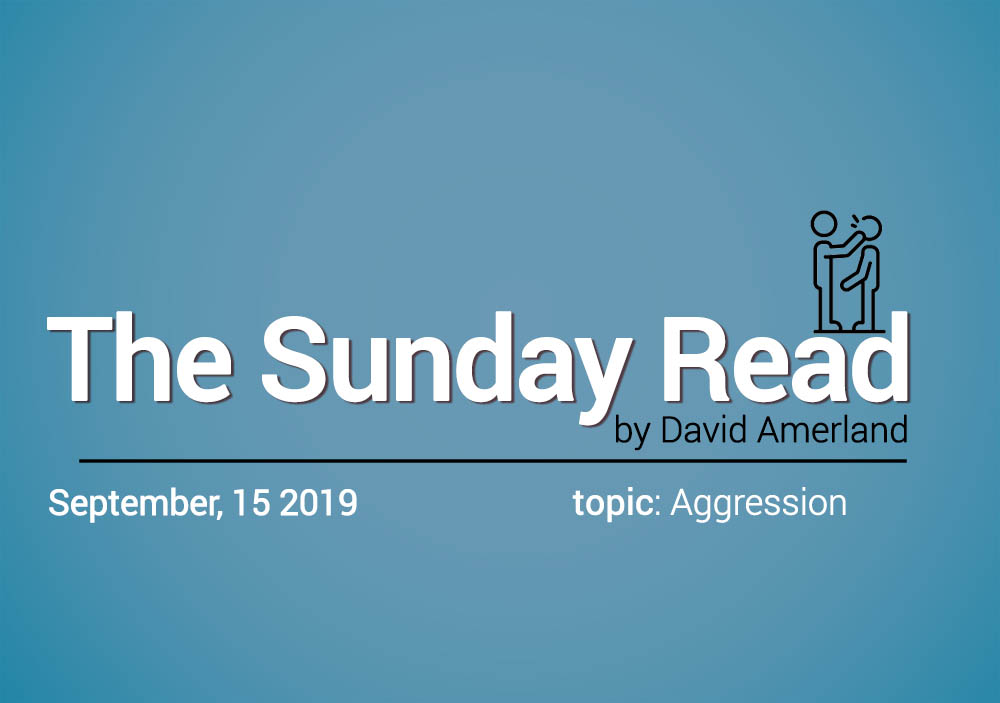 Aggression and the Sunday Read