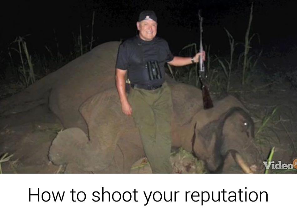 Bob Parsons shoots elephants and his business reputation
