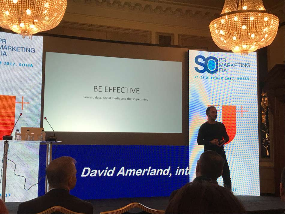 David Amerland Keynote Speech at International Public Relations Conference in Sofia