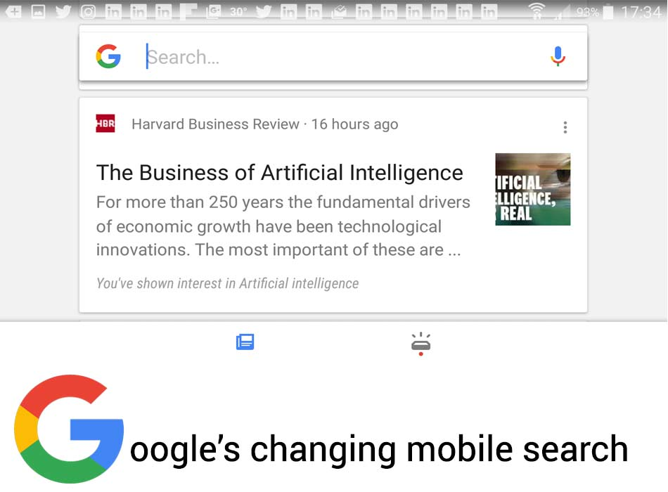 Google is changing mobile search interface