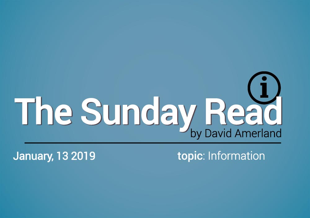 Information and the Sunday Read