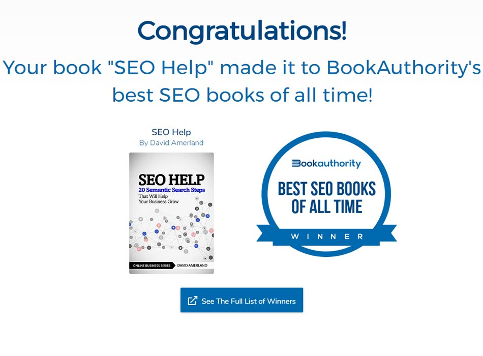 SEO Help makes Best SEO books list