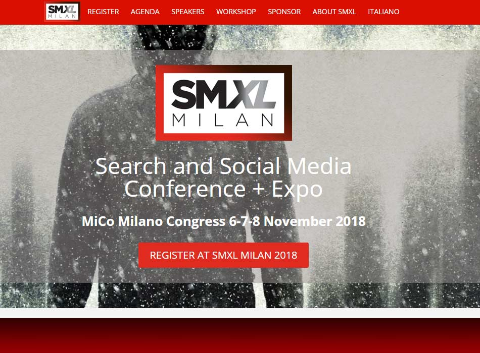 SMXL 2018 social media and digital conference in Milan
