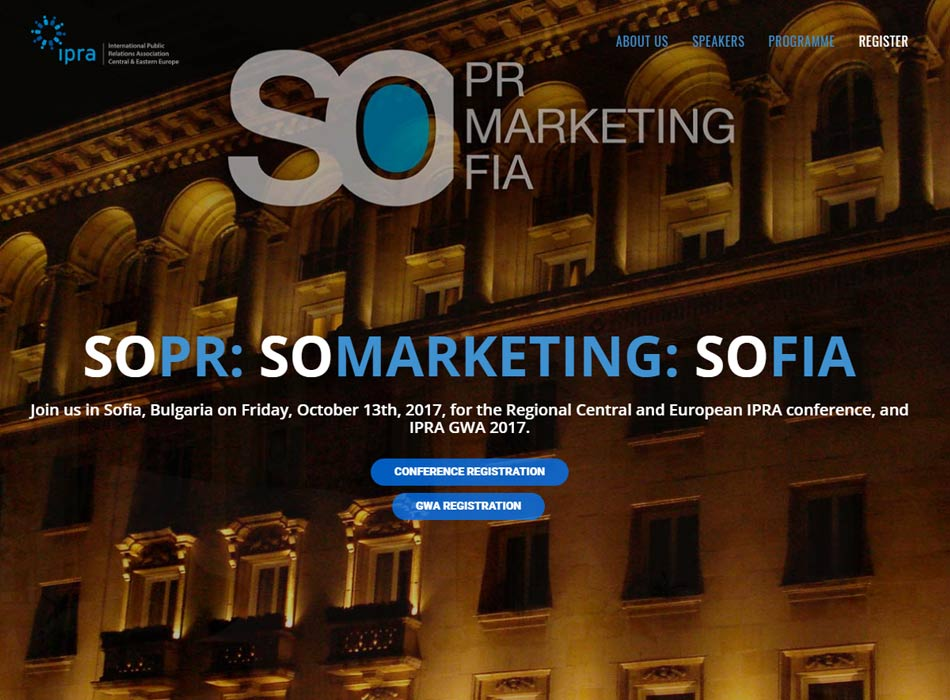 International Public Relations Association IPRA Conference in Sofia: SOPR