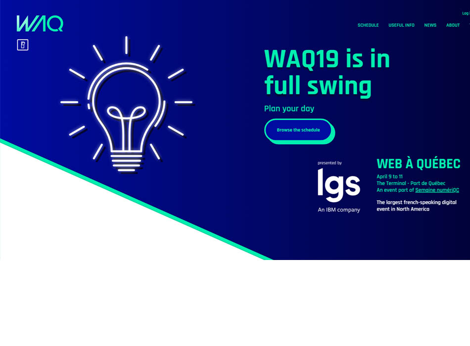 WAQ19 Conference in Quebec