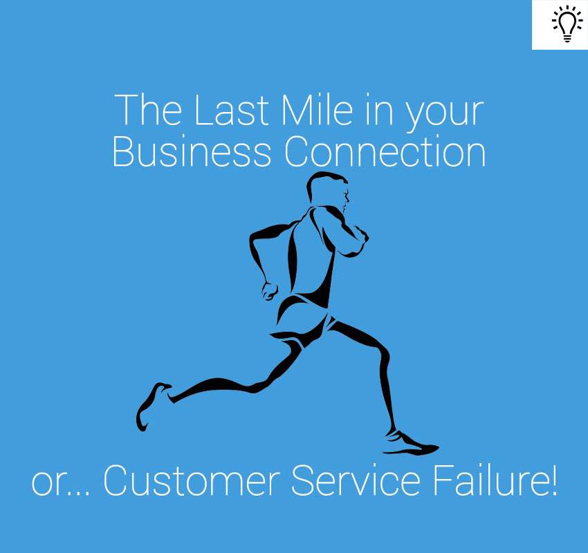 The last mile is the point at which your product or service becomes intensely personalized