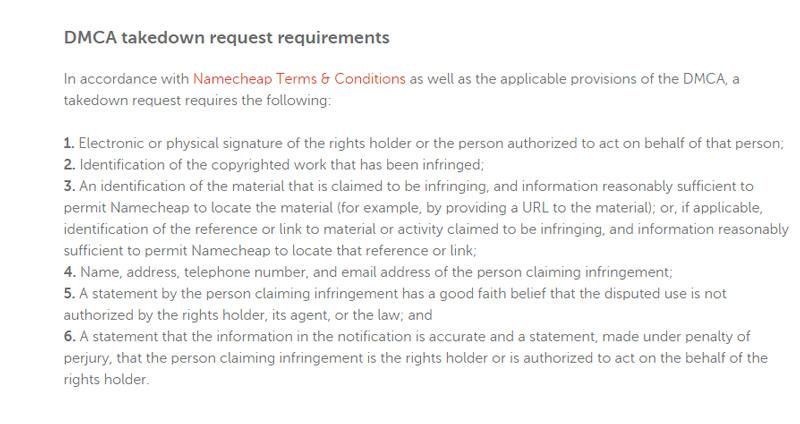 namecheap is a safe harbor for phishing websites