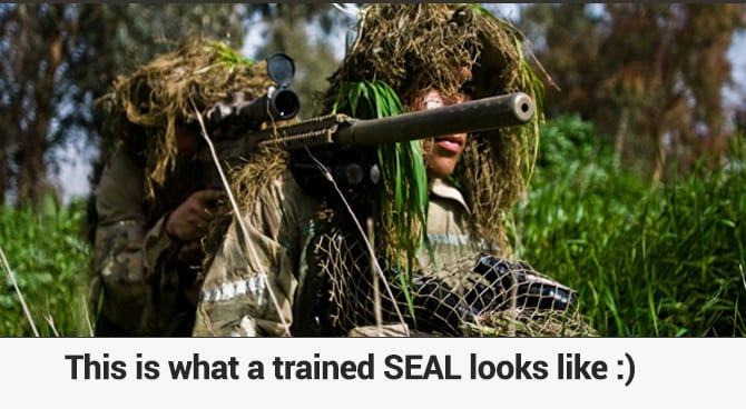 Real Navy SEAL as opposed to a Seal
