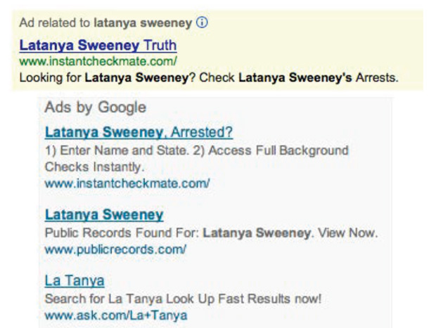 Google Adwords Show Racial Bias created by Search Users